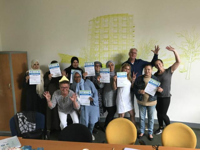 Uitreiking certificaten taalcursus